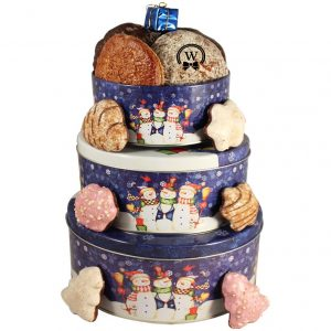 Christmas Perfecto Tin Tower – Cookies Gift Basket