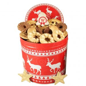 Christmas Unlimited – Cookies Gift Basket Tin Box