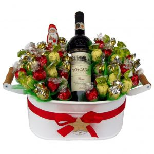 Christmas Sweet Flowerbed with Red Wine