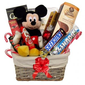 Christmas With Mickey Mouse Gift Basket