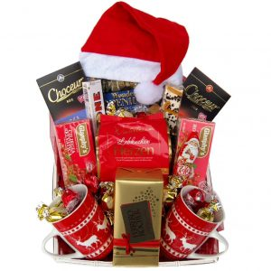 Santa Christmas Tea Gift Basket