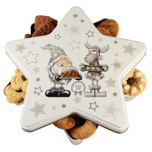 Cookies Star Tin – Cookies Gift Basket