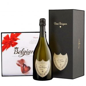 Dom Perignon & Belgian Bonbons Box