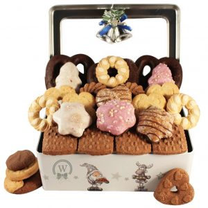 Frosty Tin – Cookies Gift Basket