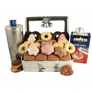 Frosty Tin with Coffee – Coffee & Cookies Gift Basket