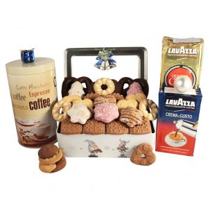 Frosty Tin – Coffee & Cookies Gift Basket