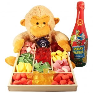 Haribo Monkey Surprise with Kids Champagne – Gift Basket