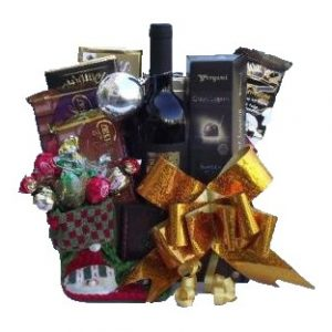 Holiday Greeting Gift Basket