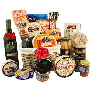 Holiday's Applause Basket – Wine & Cheese Gift Basket
