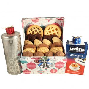 Let It Snow with Coffee – Cookies Gift Basket