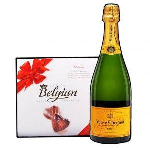 Veuve Clicquot & Belgian Bonbons Box