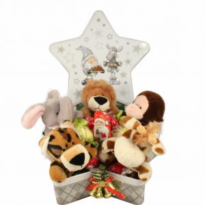 A Zoo in A Christmas Gift Basket