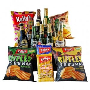 Give Him Beers – Snacks and Beers Gift Basket