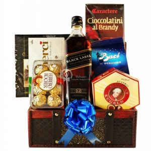 Black Johnnie Walker Gift Basket