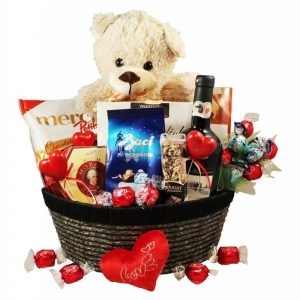 All of My Love – Chocolate & Wine Gift Basket