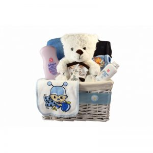 Classic New Born Boy Gift Basket
