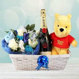 Dizzying Surprise – Baby Boy Gift Basket