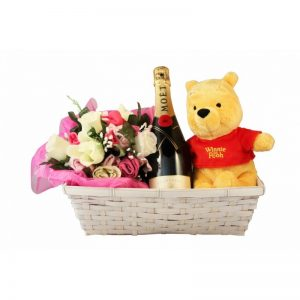 Dizzying Surprise Baby Girl Gift Basket