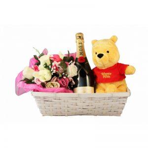 Dizzying Surprise Baby Girl Gift Basket