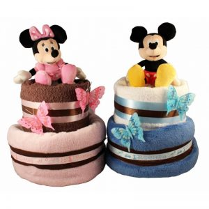 Minnie and Mickey Twins Diaper Cake