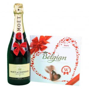 Moet Chandon & Belgian Bonbons Box