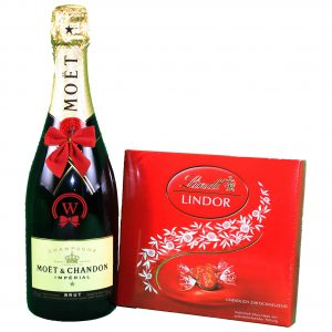 Moet Chandon & Lindor Bonbons Box