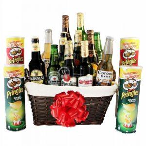 Give Him Beers – Pringles Beer Gift Basket