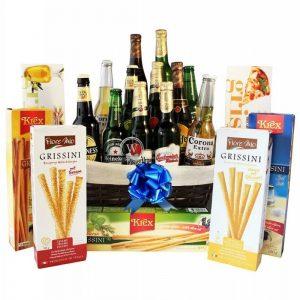 Give Him Beers – Grissini Beer Gift Basket