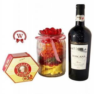 Candy Jar with Red Wine