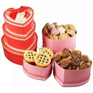 Heart Shape Cookies Tower