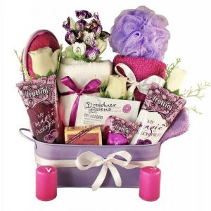 Purple Passion – Spa Gift Basket For Her