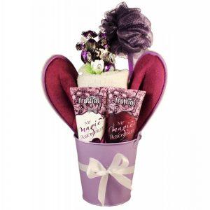 Pamper Me Purple – Spa Gift Basket