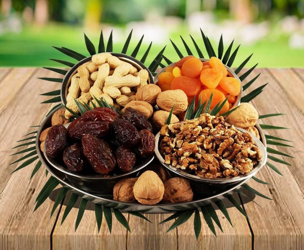 Dry Fruit Trays, Nut Gift Baskets & Trail Mix Gifts